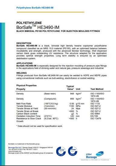 Сертифікат на трубний поліетилен
