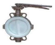 Регулююча поворотна заслонка межфланцева Fig. P221
