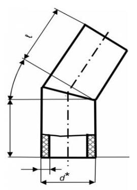 Колено 30 ° сварное (ПЭ 100, 10 бар)