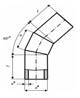 Коліно секційне 45° зварне (ПЕ 100, 10 бар)