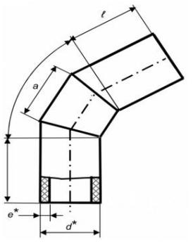 Коліно секційне 60° зварне (ПЕ 100, 10 бар)