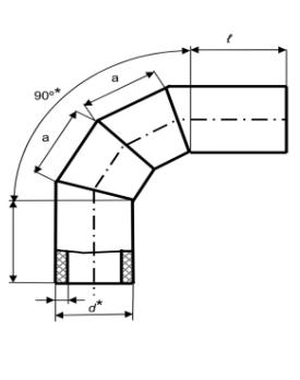 Коліно секційне 90° зварне (ПЕ 100, 10 бар)