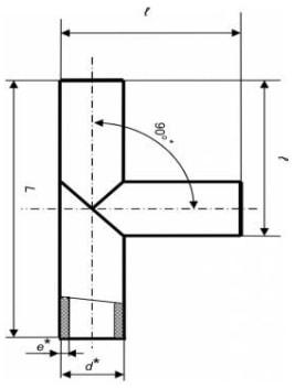 Трійник зварний рівносторонній (ПЕ 100, 10 бар)