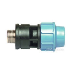 Coupling with metal external thread